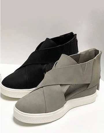 Cutout Sneaker Wedge