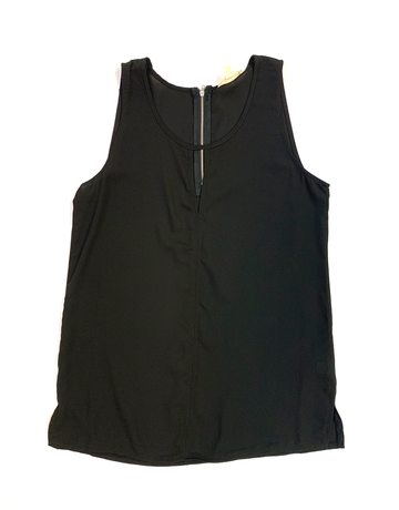 Cut Out Zip Tank Top