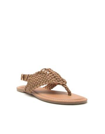 Qupid Braided flat sandal