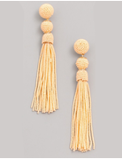 Bead Fringe Dangle Earrings