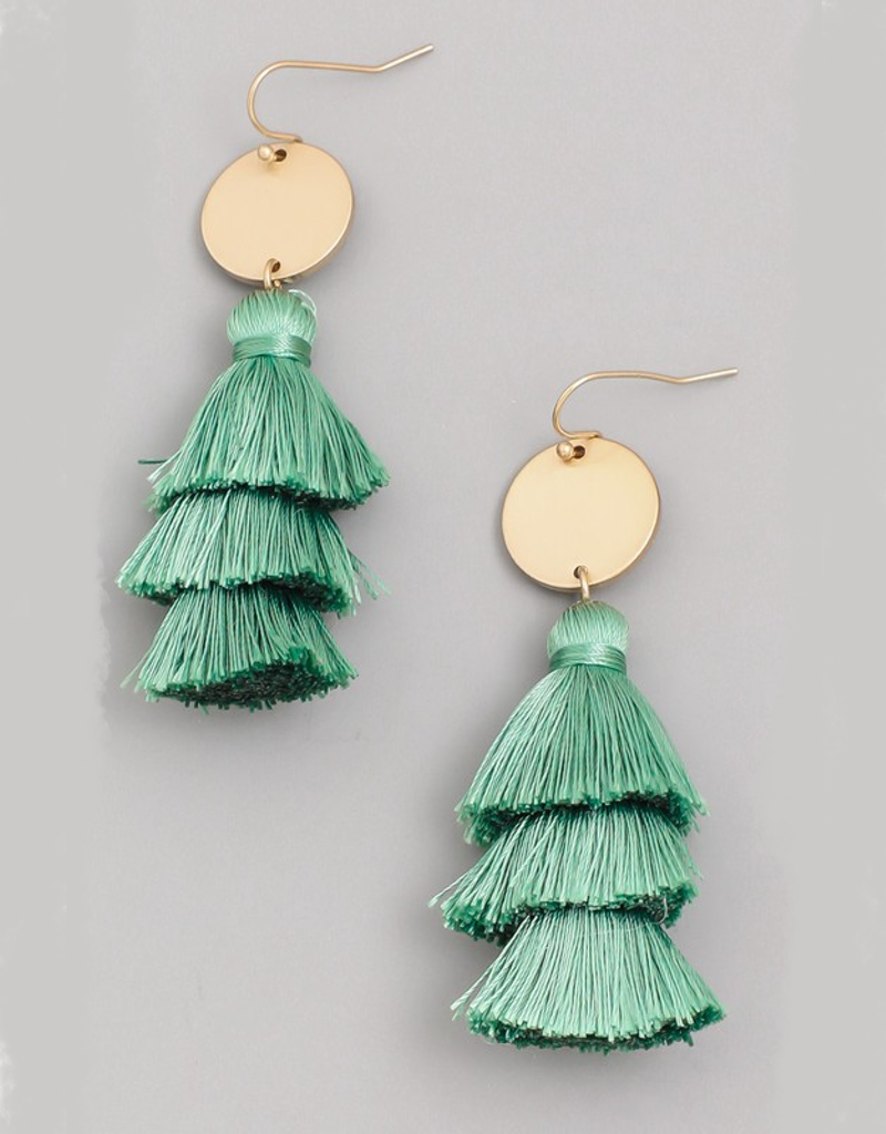 Small Layered Tassel Earrings