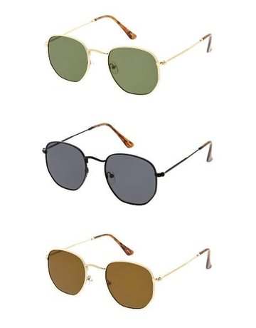 Circle sunglasses with straight edges