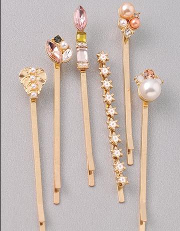 Stars, Leaf & Pearl Hair Pin Set