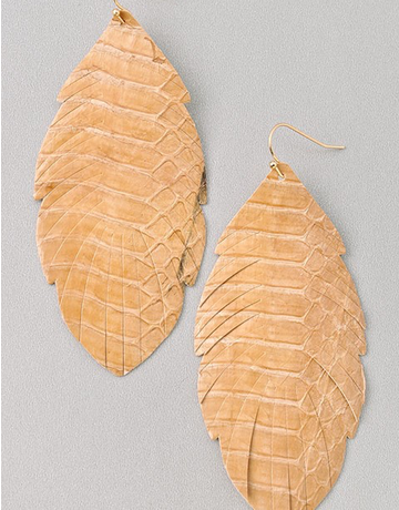 Textured Leather Earring