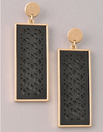 Cut Out Textured Earring