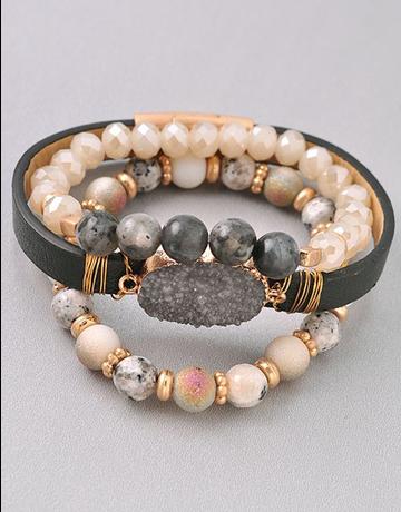 Multi Wrap Stone Bracelet