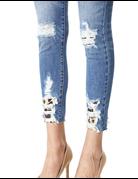 Gemma High Rise Leopard Ankle Skinny