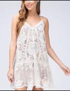Floral Underlay V-Neck Dress