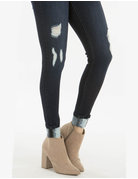 Gemma High Rise Super Skinny Distressed