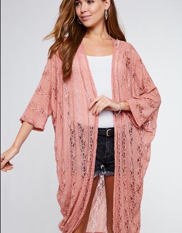 Long Body Lace Kimono