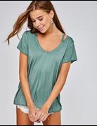 Cut Out Short Sleeve Knit T-Shirt
