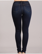Mid Rise Skinny Distressed Denim
