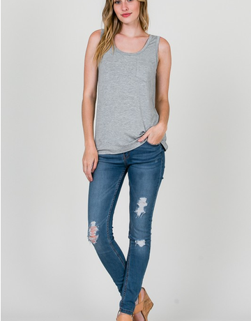 Modal Tank Top With Pocket