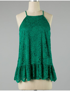 Flower Lace Woven Top