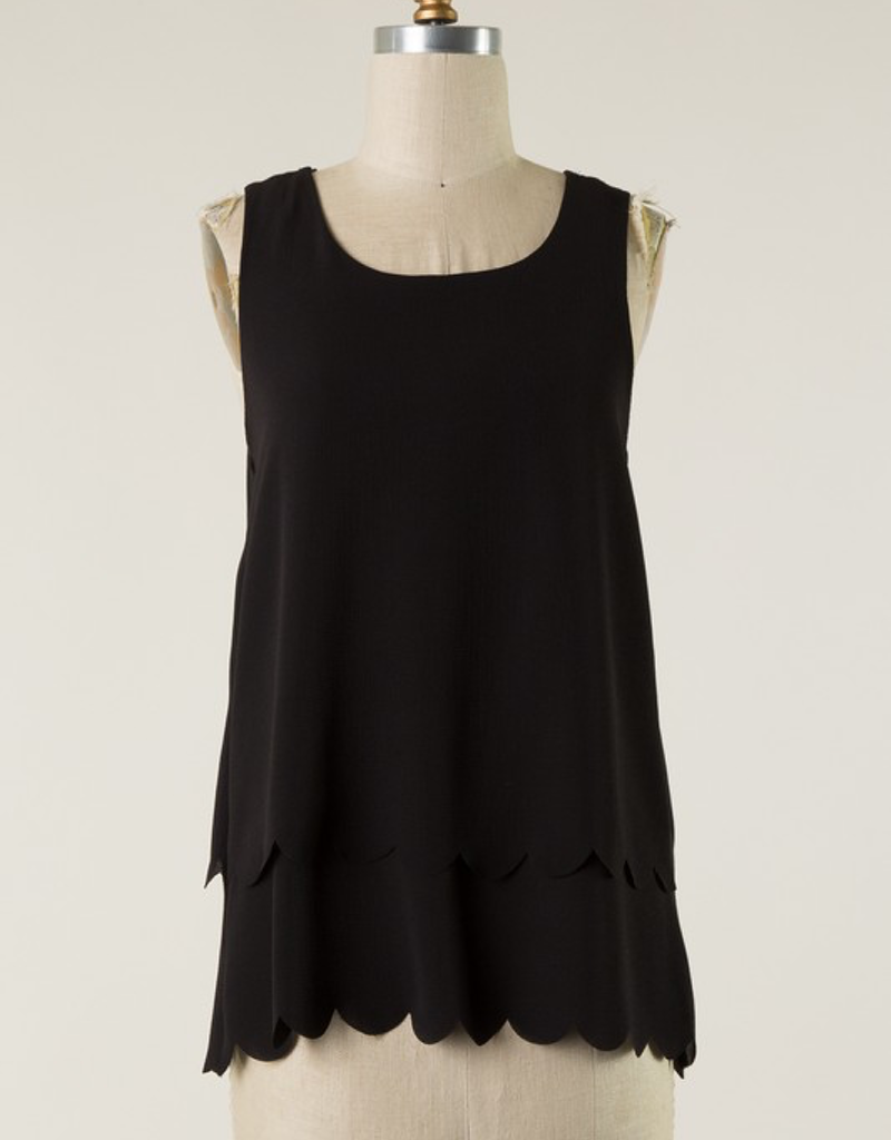 Scalloped Hem With Open Back Tank