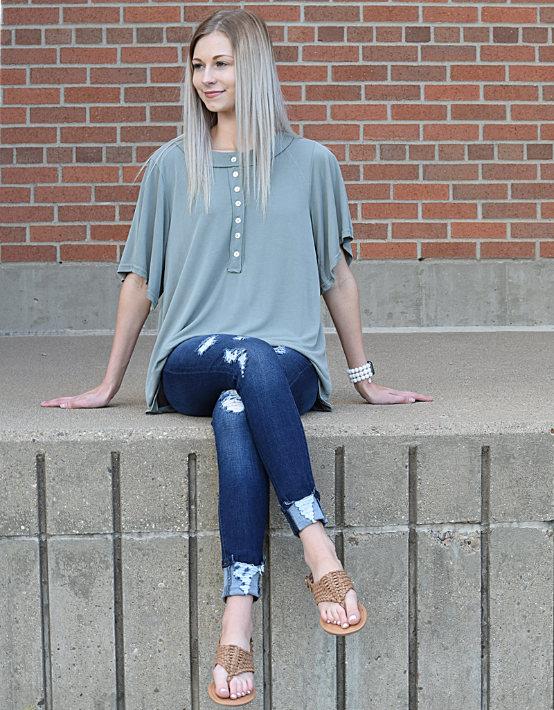 Oversized Button Down Tee