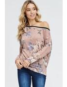 One Shoulder Floral Top