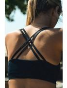 Sports Bra Black Criss Cross