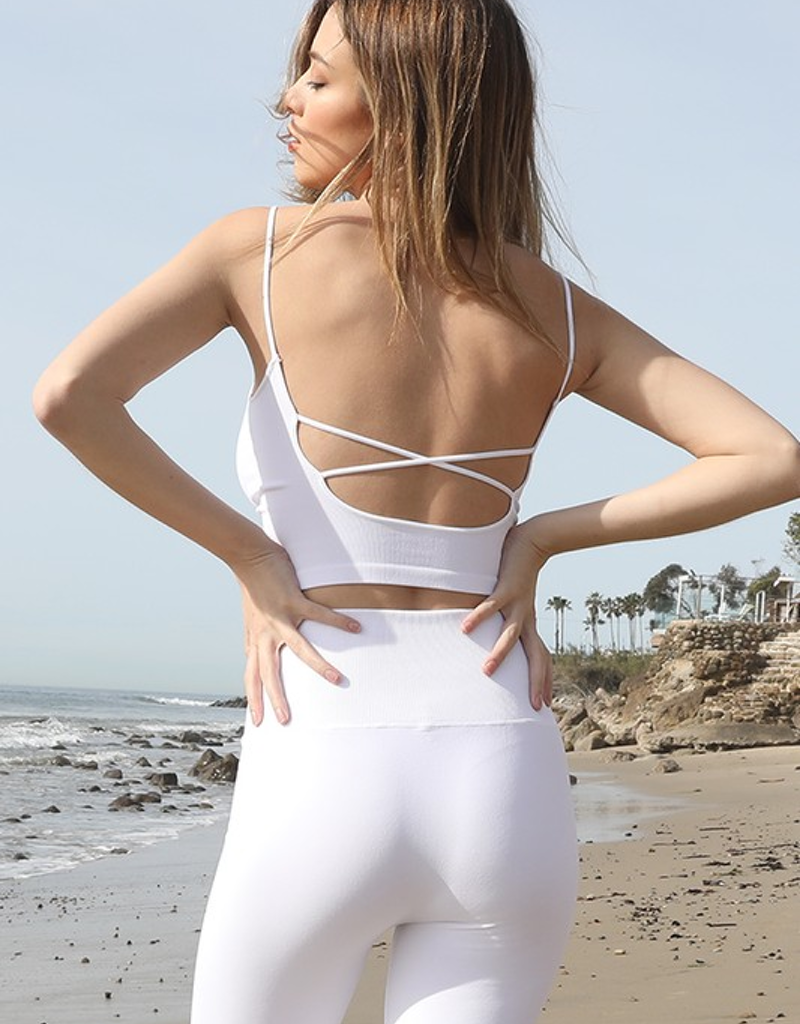 Low back cropped cami