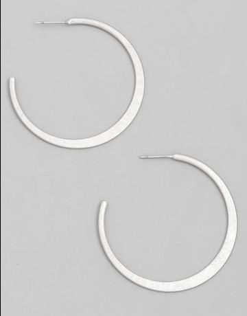 Metal Open Hoop Earrings