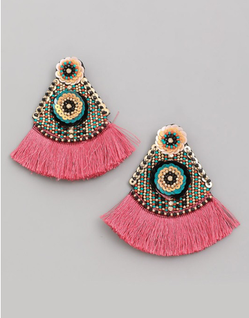 Boho Fan Drop Earrings