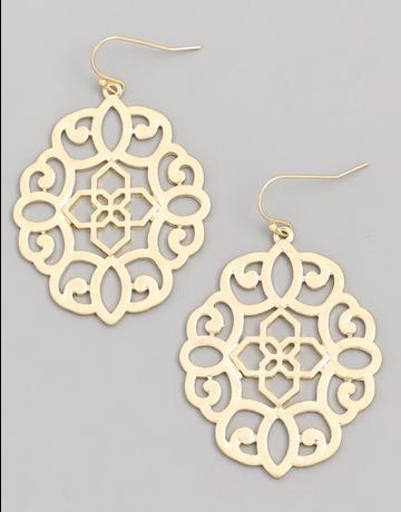 Ornamental Filigree Earring