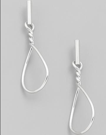 Hoop Twist Drop Earrings