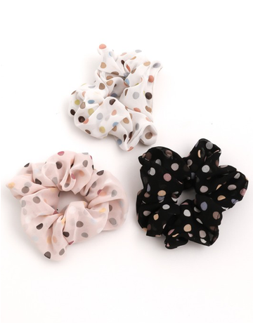 Polka Dot Hair Scrunchies