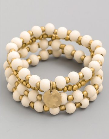 Disc Beaded Bracelet Set