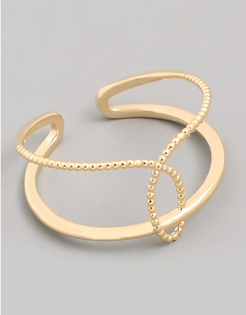 Double Strand Textured Ring