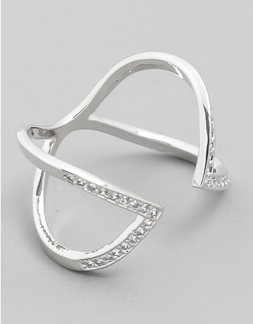 Double Pointed Open Ring