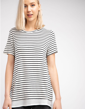 Stripe Open Back Top