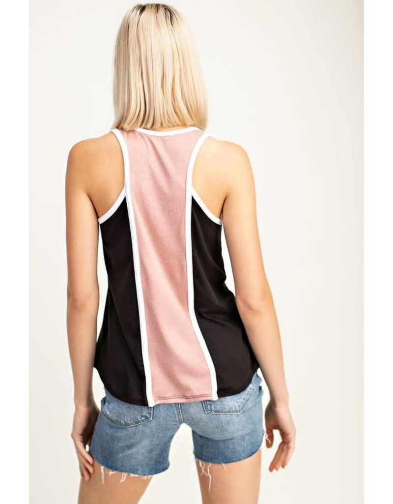 Contrast Color Block tank