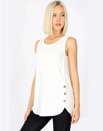 Round Neck With Side Button Tank