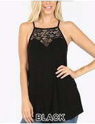 Lace Paneled Halter Top