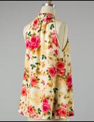 Floral Mock Neck Halter