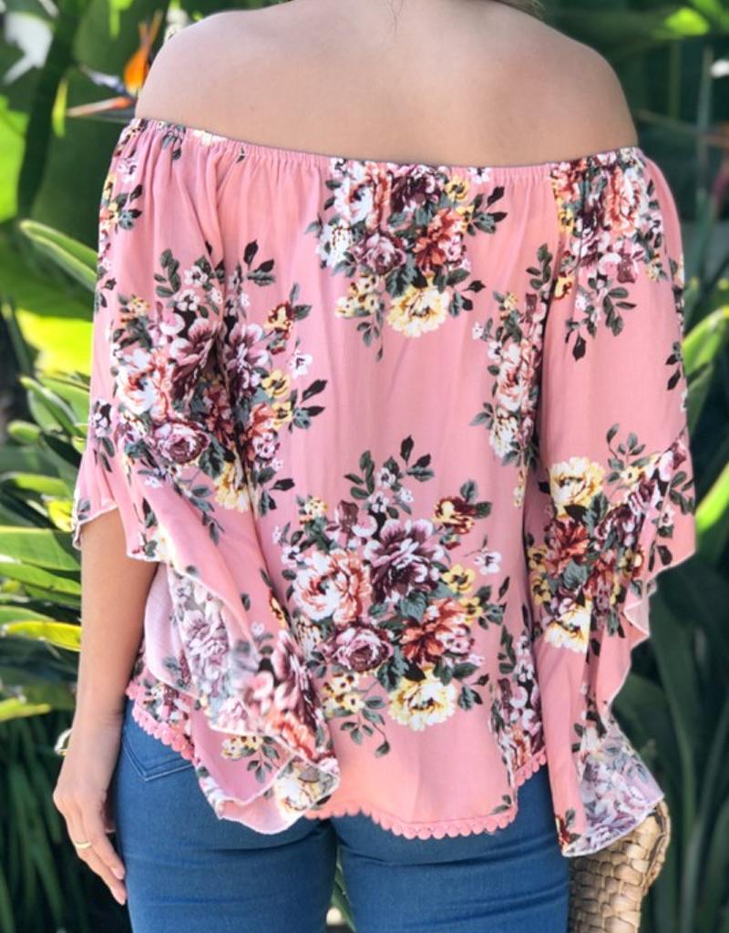 Floral Printed Off the Shoulder Top