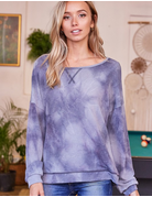 Long Sleeve Tie Dye Knit Sweater