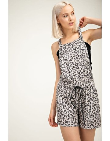 Leopard Overall Shorts