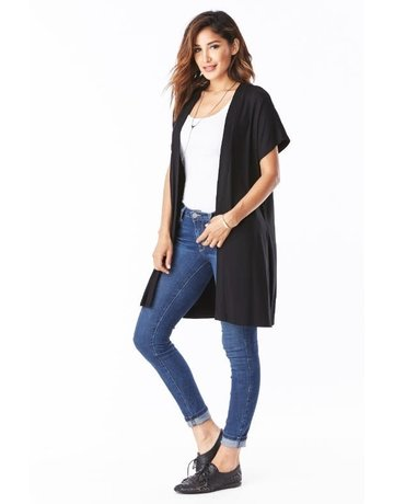 Emma's Closet Side slit short sleeve cardigan