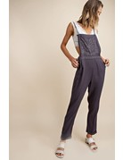 Floral Embroidered Overalls
