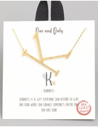Initial Charm Necklaces Gold