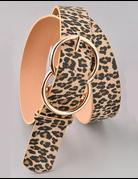Leopard Double Circle Belt