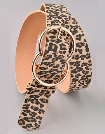 Leopard Double Circle Belt
