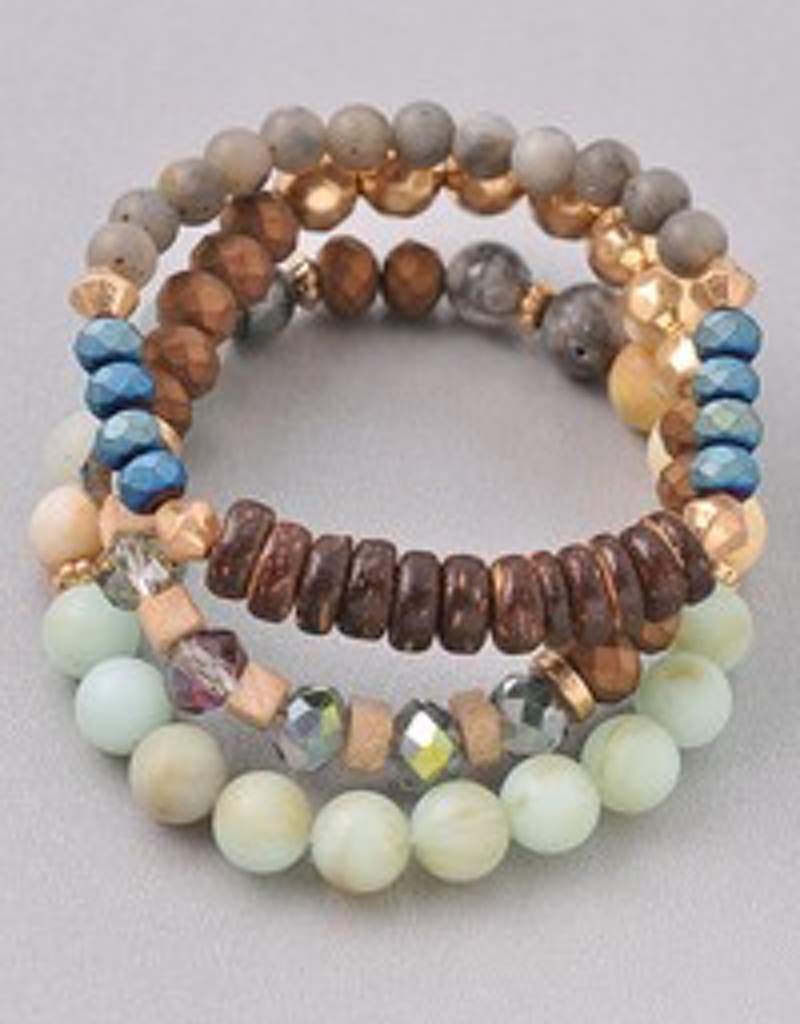 Stacked Beaded Bracelet Set