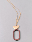 Half circle and Oval Necklace