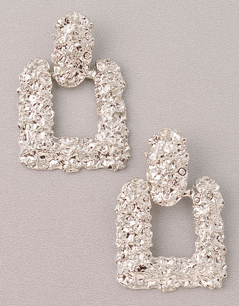 Metallic Foil Square Earrings