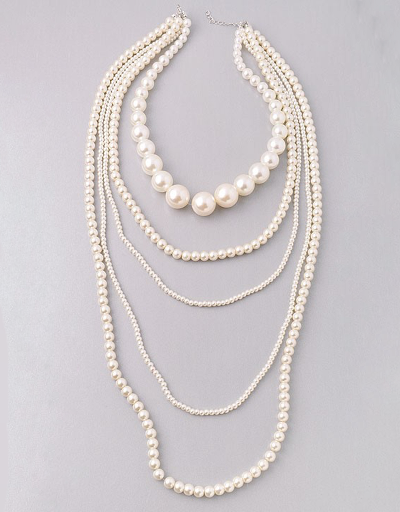 Multi Layered Pearl Necklace