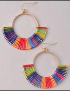 Threaded Hoop Earrings
