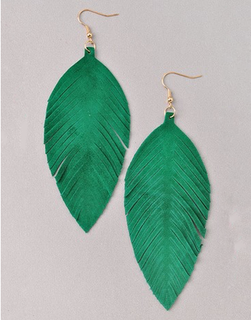 Vibrant Feather Earrings